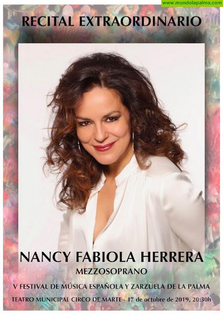 Nancy Herrera actúa en el Teatro Circo de Marte mañana jueves