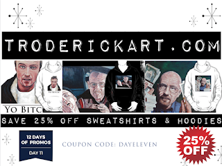 12 Days of Promos: Coupon Code DAYELEVEN troderickart.com
