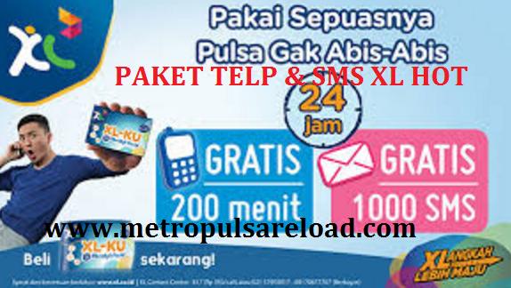 Daftar Harga Paket Telpon dan SMS XL Hot Termurah Terbaru Metro Reload