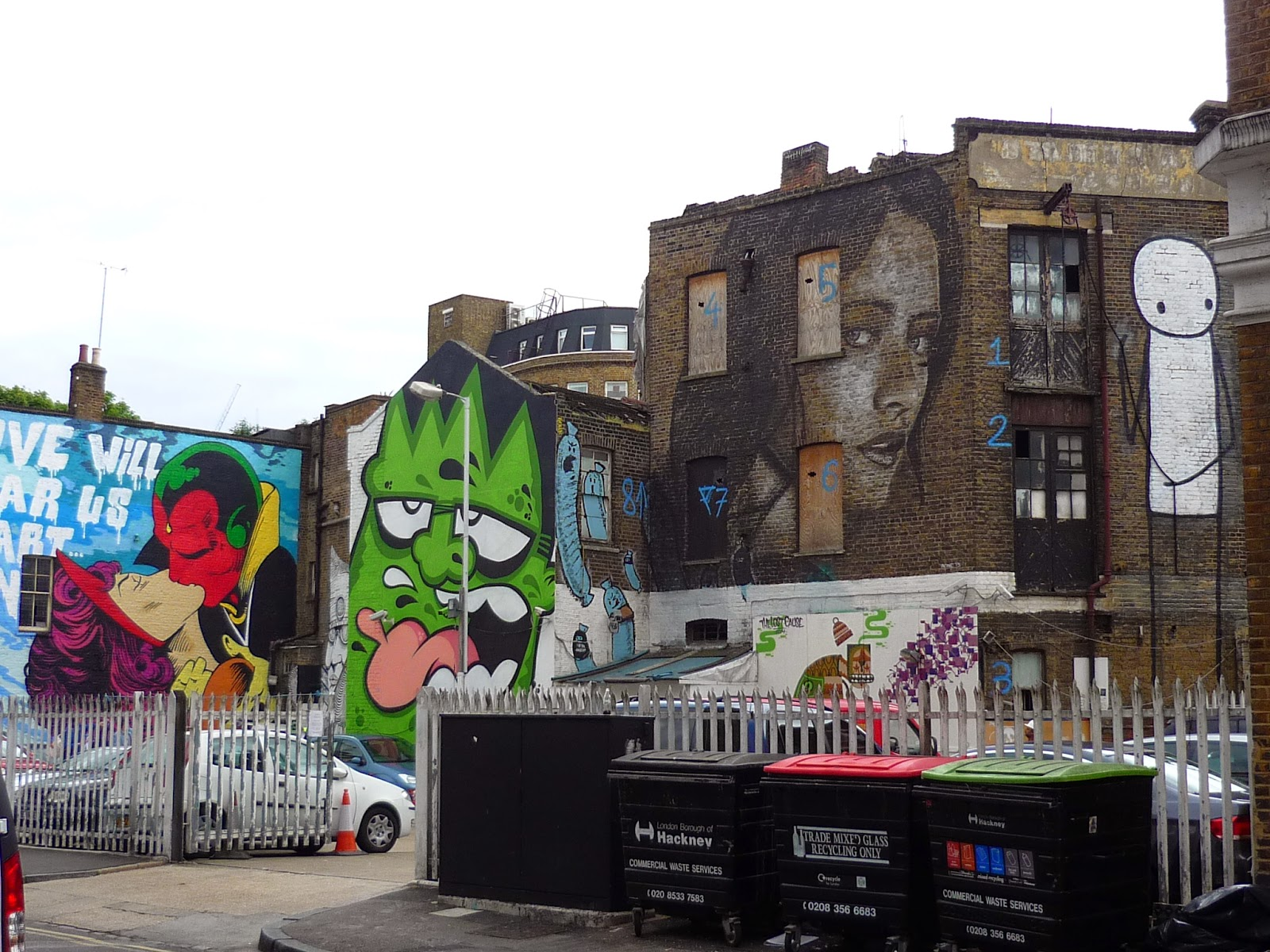 Streets of Shoreditch - Graffiti Wall Art