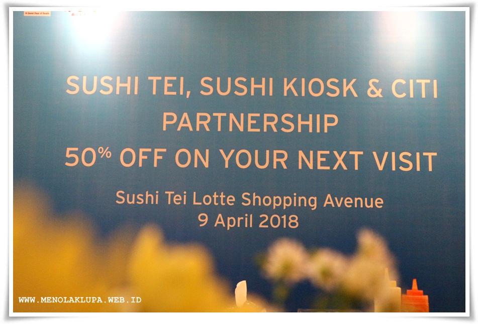Citibank Indonesia berikan e-voucher gratis bagi manjakan pecinta Sushi Tei & Sushi Kiosk
