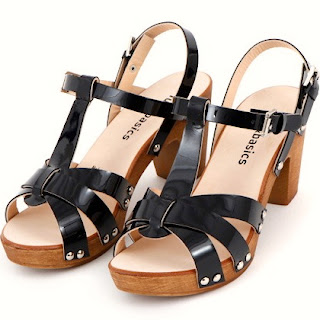 Sandalias, cangrejeras, charol, negro, fun&basics, made with love
