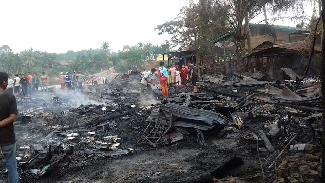Innalillahi, 38 Unit Rumah di Subulussalam Terbakar