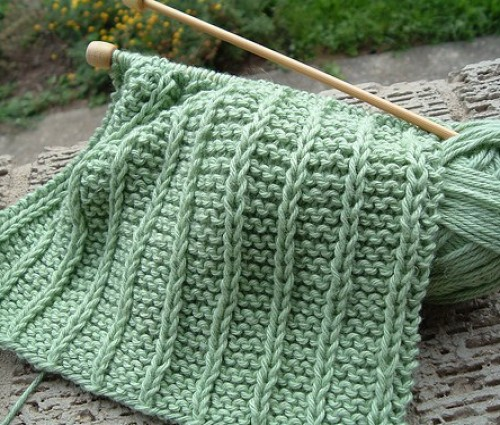Baby Genius Burp Cloth - Knitting Pattern