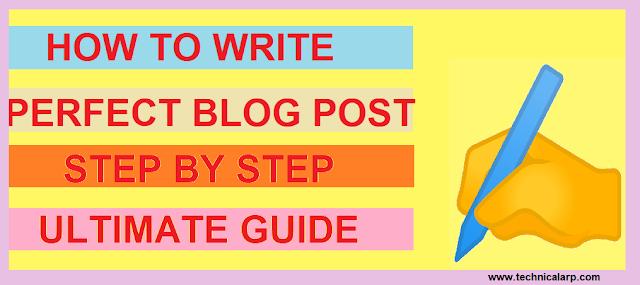 Write a Perfect Blog