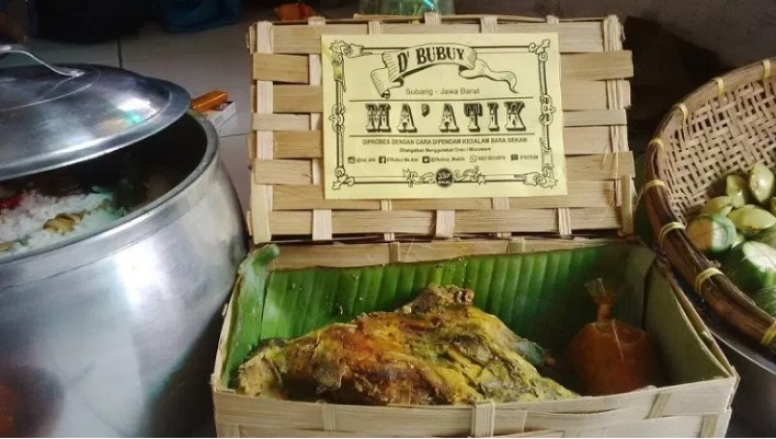 Ini Dia Bubuy Ayam Ma Atik Kuliner Lezat Dipendam Bara