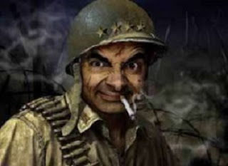 Foto Mr Bean Lucu: Jadi Tentara