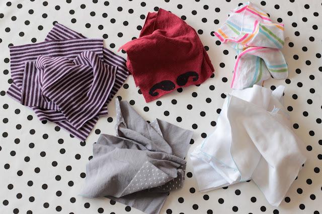 mouchoirs en tissu zero dechet