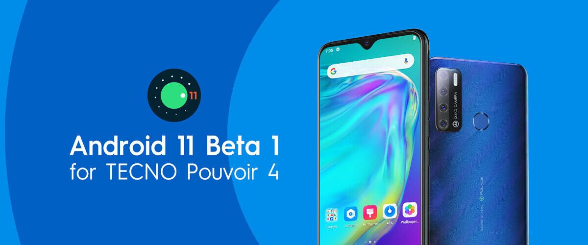 Tecno pouvoir 4 pro 11 beta
