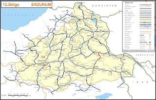 Image result for ağrı erzurum haritası
