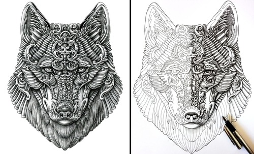 00-Alex-Konahin-Ornate-Details-in-Animal-Drawings-www-designstack-co