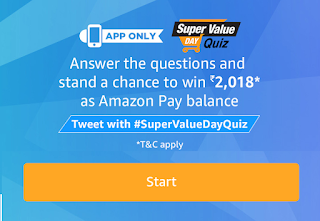 Answer of Super Value Quiz START