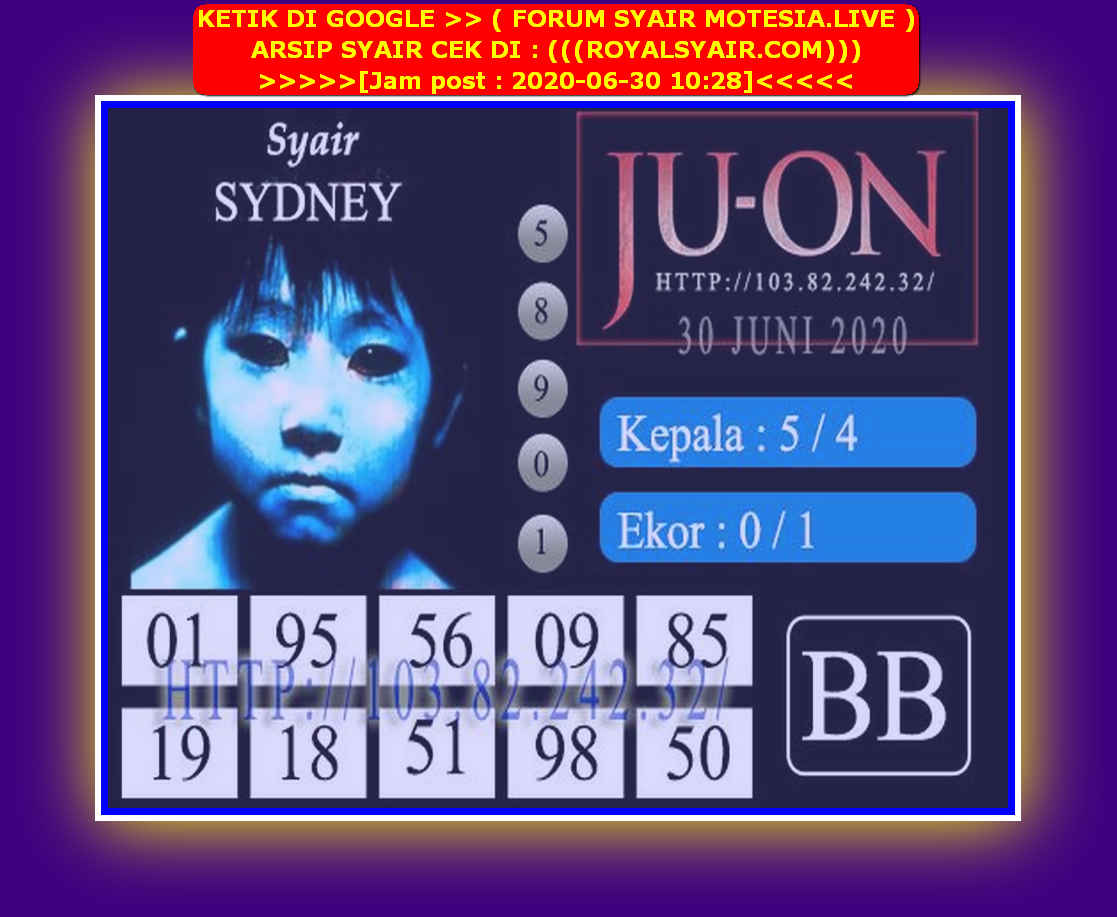 Kode syair Sydney Selasa 30 Juni 2020 108