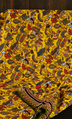 Singapore girl batik fabric yellow