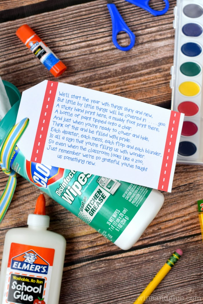 Easy Back To School Printable Teacher Gift