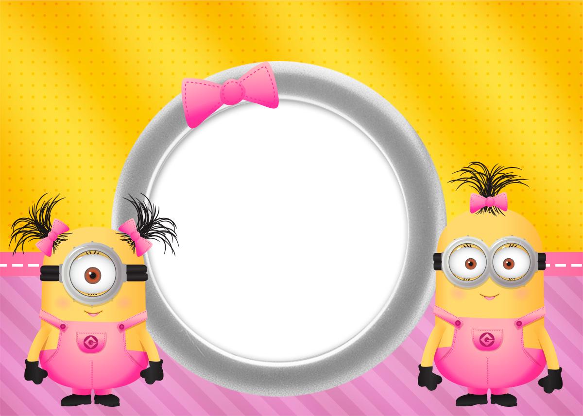 Minion Girls Free Printable Invitations Oh My Fiesta In English