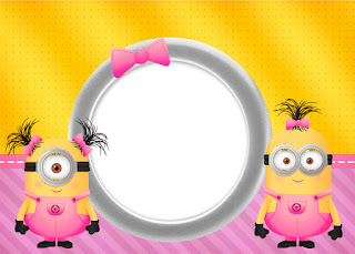 minion girls free printable invitations oh my fiesta in english