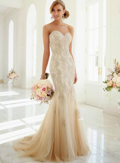 abiti sposa color champagne
