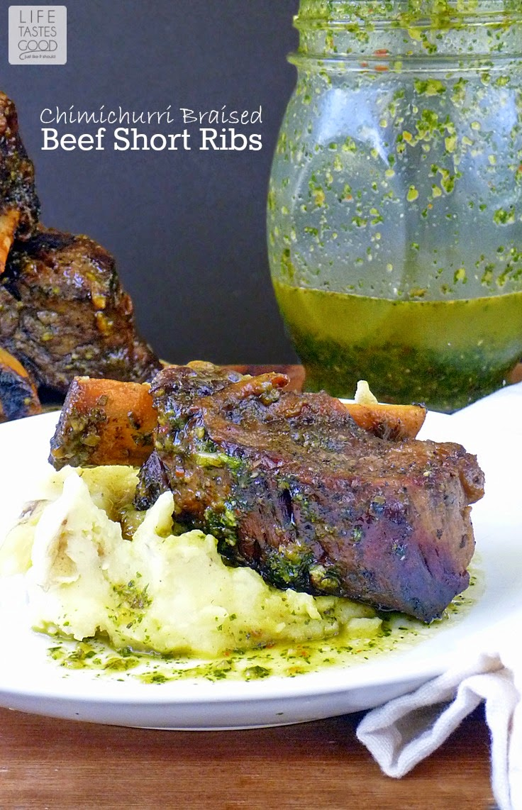 Chimichurri Braised Beef Short Ribs | by Life Tastes Good is a delicious gourmet meal that practically cooks itself! #Main #Easy