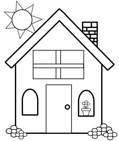 Mewarnai  Gambar  Rumah  Untuk  Anak TK dan SD Mewarnai  Gambar