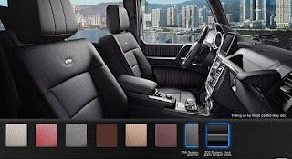 Nội thất Mercedes AMG G63 2015 màu Xám Leather ZN9