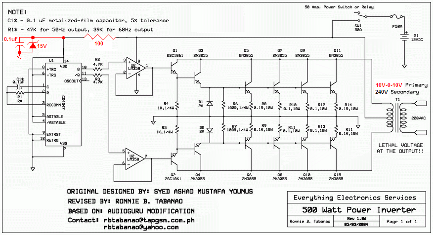 1000 w inverter circuit diagram 500 w inverter circuit diagram