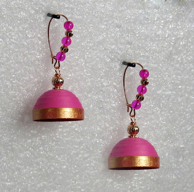 Simple elegant earrings for kids - quillingpaperdesigns