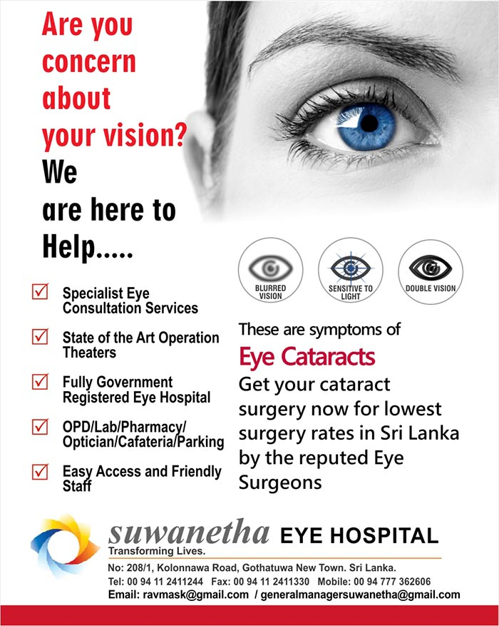 These are symptoms of  Eye Cataracts Get your cataract surgery now for lowest surgery rates in Sri Lanka by the reputed Eye Surgeons