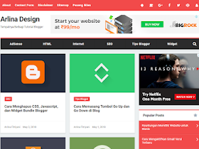 Arlina Clone - Responsive Blogger Template