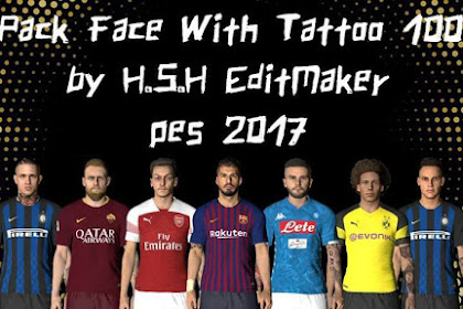 Facepack + Tattoo (100 Players) - PES 2017
