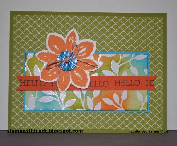 Irresistibly Yours, Crazy About You, Petal Potpourri, stampwithtrude.blogspot.com, trude thoman, Stampin' Up! greeting card, think of you