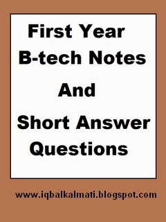 First Year B Tech Notes PDF Download
