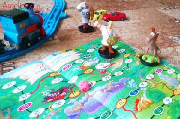 Игра ходилка с фишками для детей по мотивам русской сказки