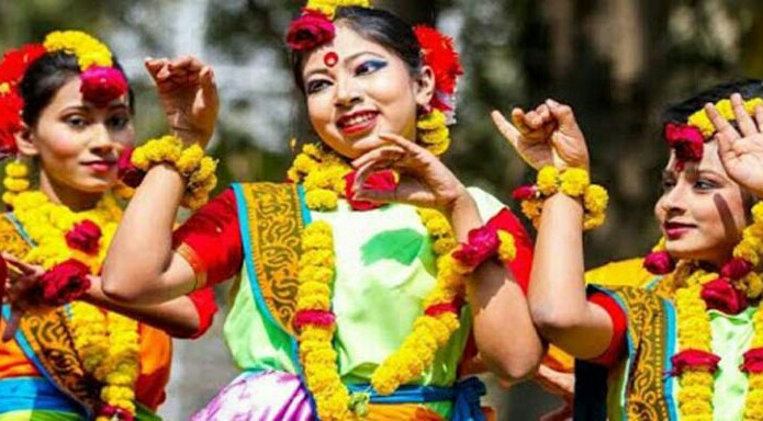 girls dance picture Pahela Boishakh