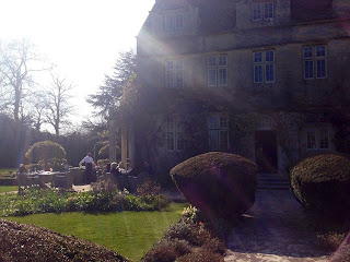 Afternoon Tea on the Terrace, Barnsley House facebook page as seen on linenandlavender, http://www.linenandlavender.net/2013/05/the-english-garden.html