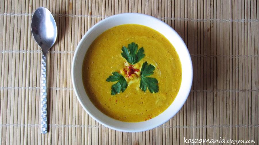 Zupa krem z kukurydzy i kaszy jaglanej