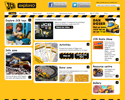 JCB Explore website