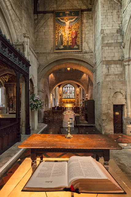 Interior shot of the Cotswold town of Burford's church by Martyn Ferry Photography