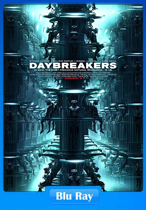 Daybreakers 2009 720p BluRay Subs Dual Audio x264 | 480p 300MB | 100MB HEVC