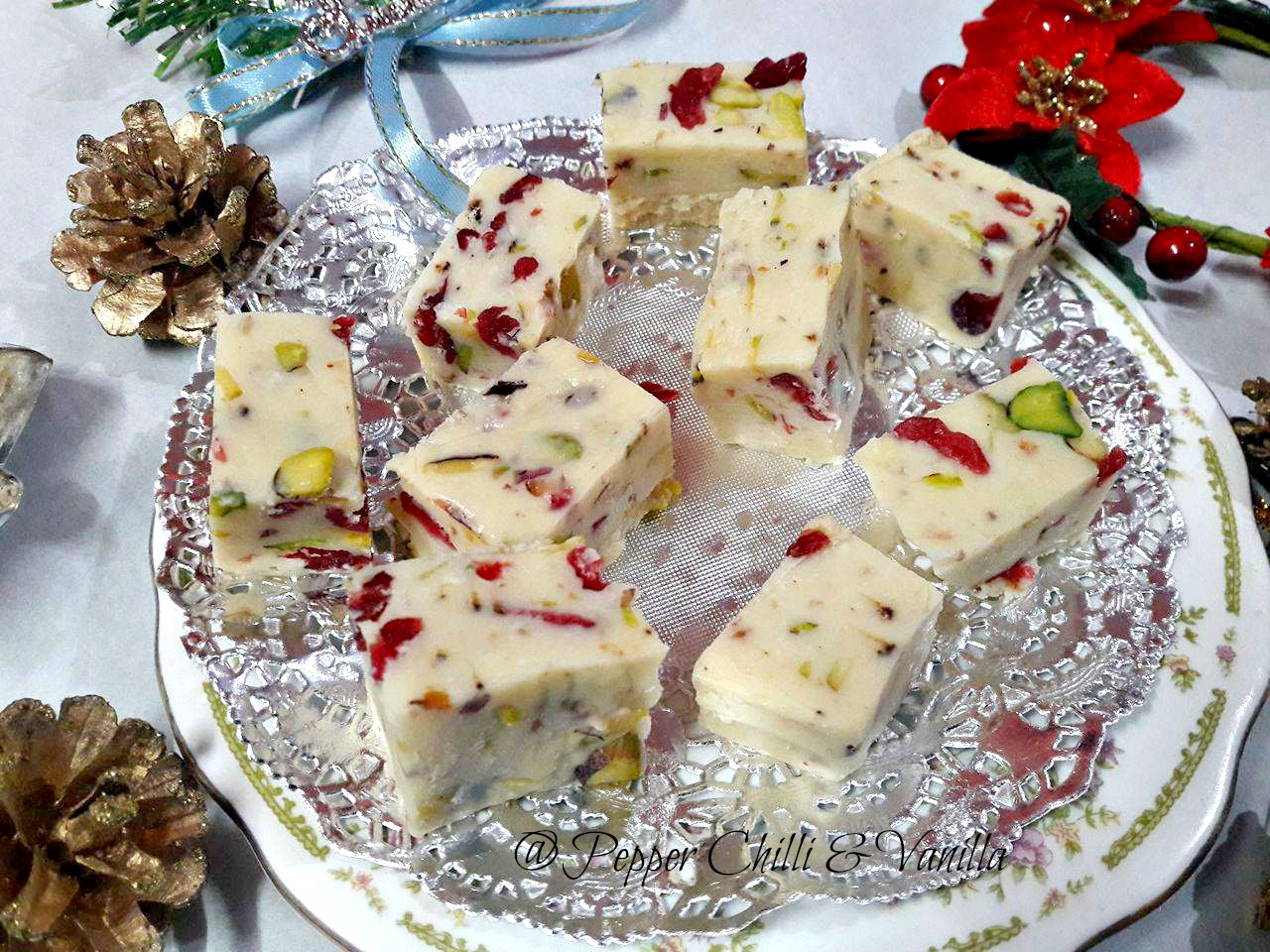 easy pistachio cranberry fudge