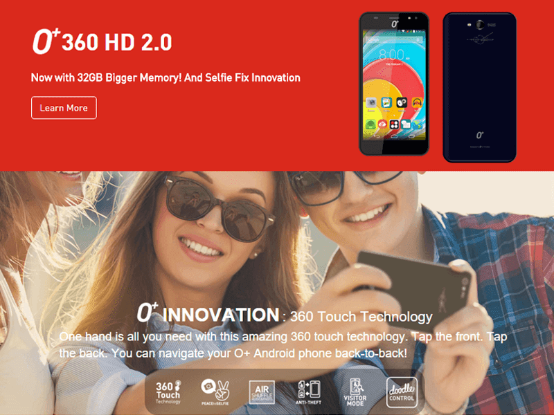 O+ 360 HD 2.0 Spotted! Comes With 2 GB RAM, 16 GB ROM And Android 5.1 Lollipop!