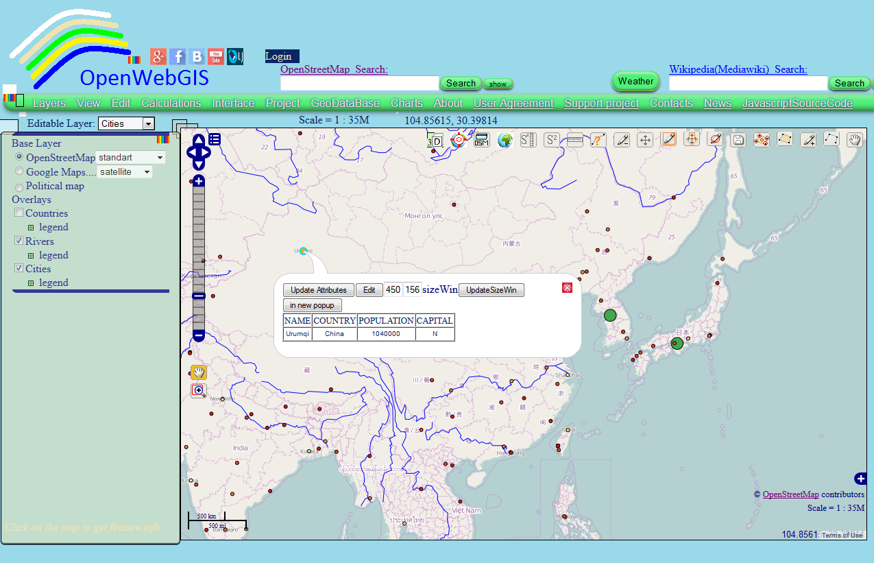 OpenWebGIS is free online GIS: Layer Styling, SLD file, OpenWebGIS