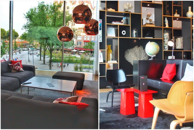 Bar y vistas en el hotel CitizenM Rotterdam