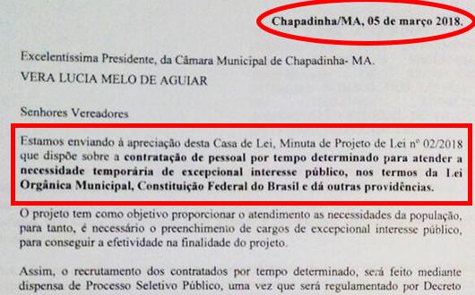 Prefeito de Chapadinha tenta burlar concurso e contratar + de mil servidores
