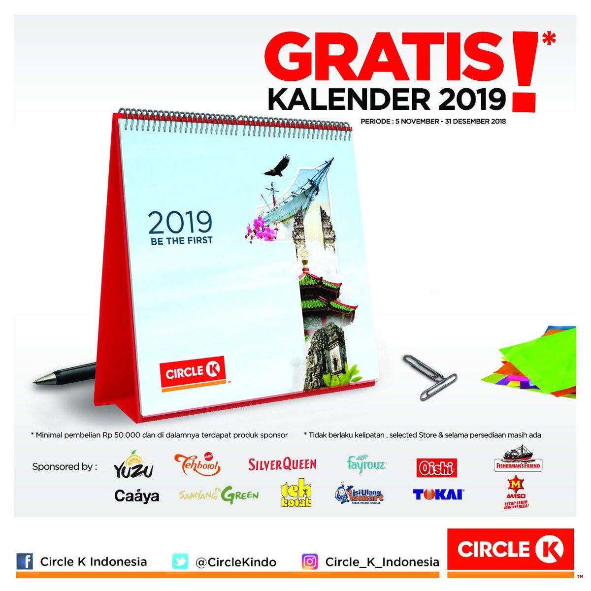CircleK - Promo Gratis Kalender 2019 Belanja Min 50K