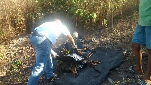 Polícia  Militar em conjunto com a Polícia Civil encontra ossada humana e moto roubada em Chapadinha.