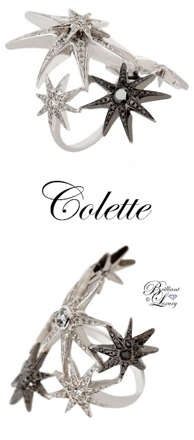 Brilliant Luxury ♦ Colette Jewelry White Star Earring Set
