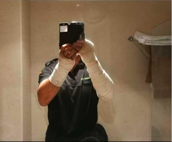 Un Guardia Civil herido en la valla de Ceuta, asaltada por unos 700 inmigrantes, habla de lo  ocurrido