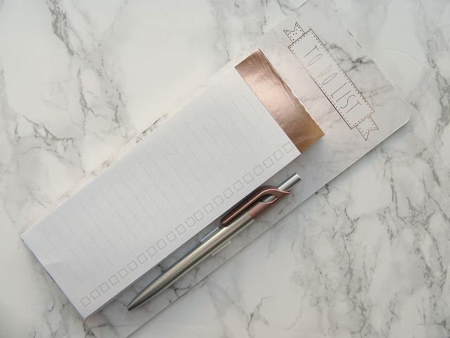 Primark Rose Gold Marble To Do List Pad