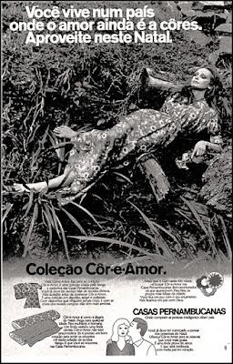 Casas Pernambucanas,  Brazil fashion in the 70's, 1970; moda anos 70; propaganda anos 70; história da década de 70; reclames anos 70; brazil in the 70s; Oswaldo Hernandez